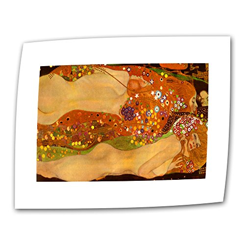 Art Wall The Beethoven Frieze 12 by 18-Inch Flat/Rolled Canvas by Gustav Klimt with 2-Inch Accent Border - Beethoven Frieze Klimt