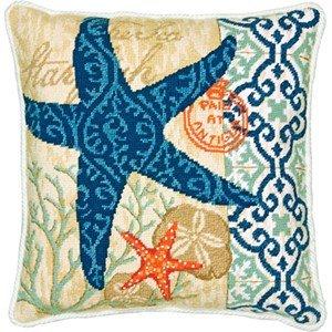 Starfish Needlepoint Kit-14x14 Stitched In Wool & Thread