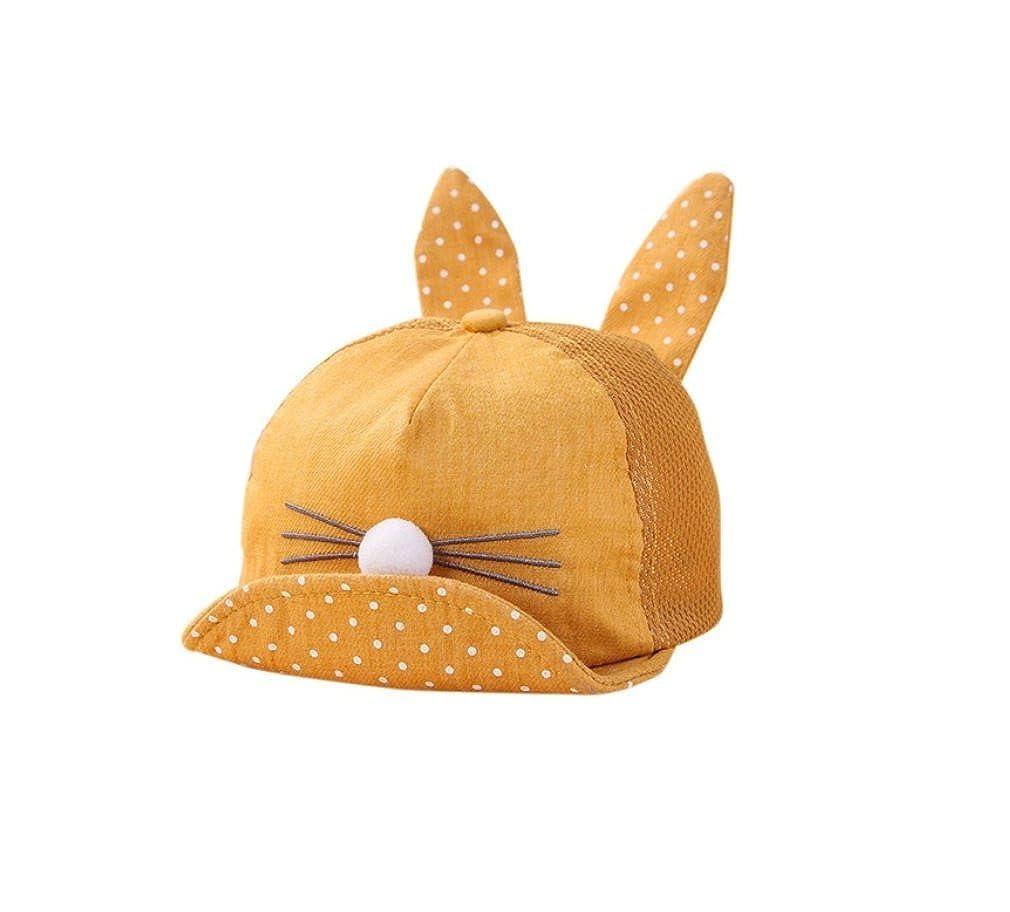 1a479e63ad0daa Amazon.com: Cherry's baby Summer Newborn Toddler Girl Boy Rabbit Ear Cat Baby  Hat Kids Cat Caps Snapback Dots Cap New (Dark Blue): Clothing