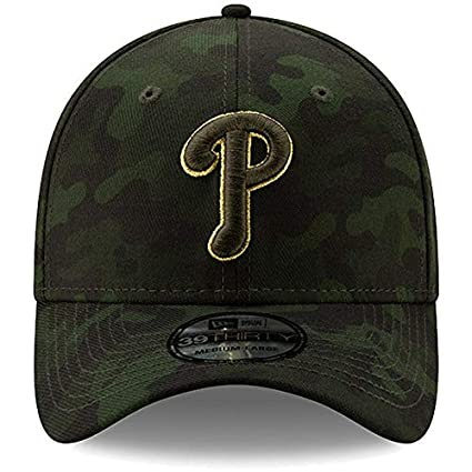 new concept ac0a6 4ae35 New Era Philadelphia Phillies 2019 MLB Armed Forces Day 39THIRTY Flex Hat -  Camo (Small