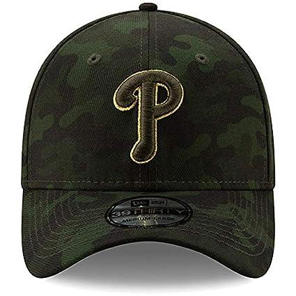 a1b9ed4019d8a0 New Era Philadelphia Phillies 2019 MLB Armed Forces Day 39THIRTY Flex Hat -  Camo (Small