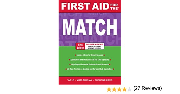 Amazon.com: First Aid for the Match, Fifth Edition (First Aid ...