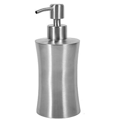 Garsent Dispensador de jabón de Acero Inoxidable, dispensadores de líquido y loción Dispensador de jabón