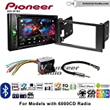 Volunteer Audio Pioneer AVH-201EX Double Din Radio Install Kit with CD Player Bluetooth USB/AUX Fits 2010-2011 Transit Connect