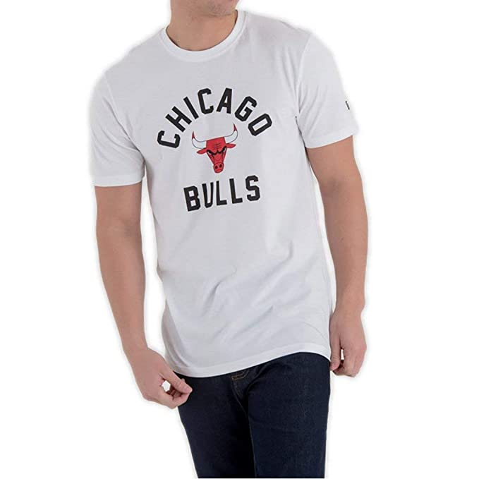 A NEW ERA Camiseta NBA Chicago Bulls Classic Blanco XXS (XX-Small)