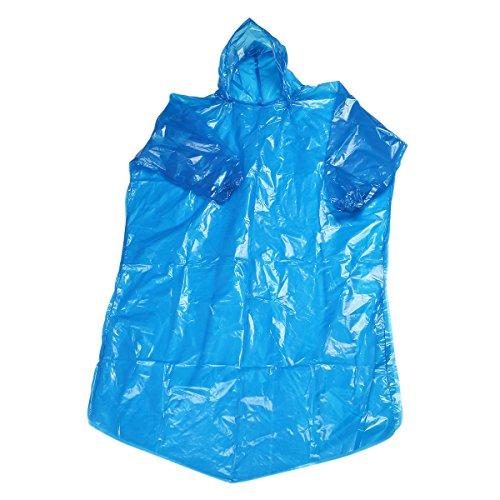 LUOEM 2 Stück Einweg Regenponcho mit Kapuze für Outdoor Reisen Notfall