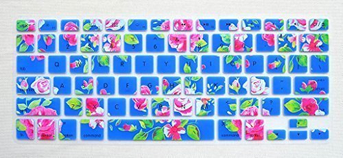 Flower Keyboard Cover Protect Skin for MacBook Air 13 inch, MacBook Pro 13 15 17 (with or w/out Retina Display) iMac Wireless Keyboard US Layout