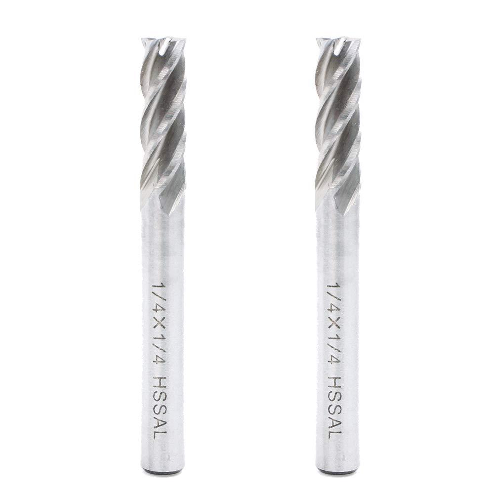 8mmSHK Single Flute Milling Cutter For Aluminium HSS CNC Endmill