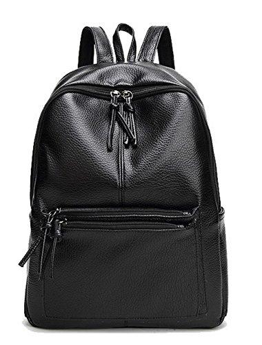 Travel Voguezone009 Ccaybo181709 Shoulder Bags Black School Backpacks Daypack Black Weekender Women w11TgZ
