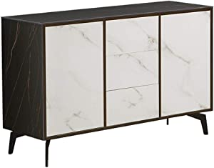 YADSHENG Sideboard Mid Century Modern Bookmatched Kitchen Buffet Accent Entryway Bar Cabinet Storage Entry Table Buffets & Sideboards (Color : White, Size : 120x40x75cm)