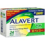 Alavert 24-Hour Non-Drowsy Allergy Relief (60-Count Fresh Mint Flavor Orally Disintegrating Tablets)