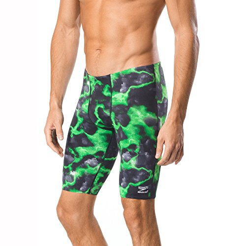 68f5a360dcc65 Speedo Men's Energy Volt Jammer Swimwear, Green, 32