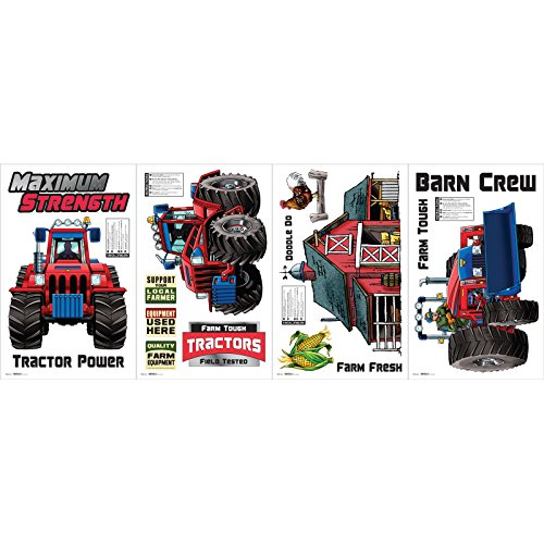 The Scan Group Farm Tractor Small Wall Decal