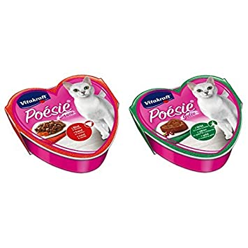 VITAKRAFT Poesie para comida de gatos, 15 x carne y zanahoria + 15 x juego con bayas: Amazon.es: Productos para mascotas