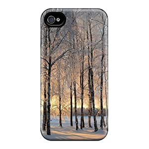 New Style Tpu 4/4s Protective Case Cover/ Iphone Case - Winter Morning In Finl