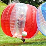 BubbleU24(TM) Bubble Soccer Suit for Bubble Football Zorb Soccer 5' Size Red&Clear Mixed Bumper Ball
