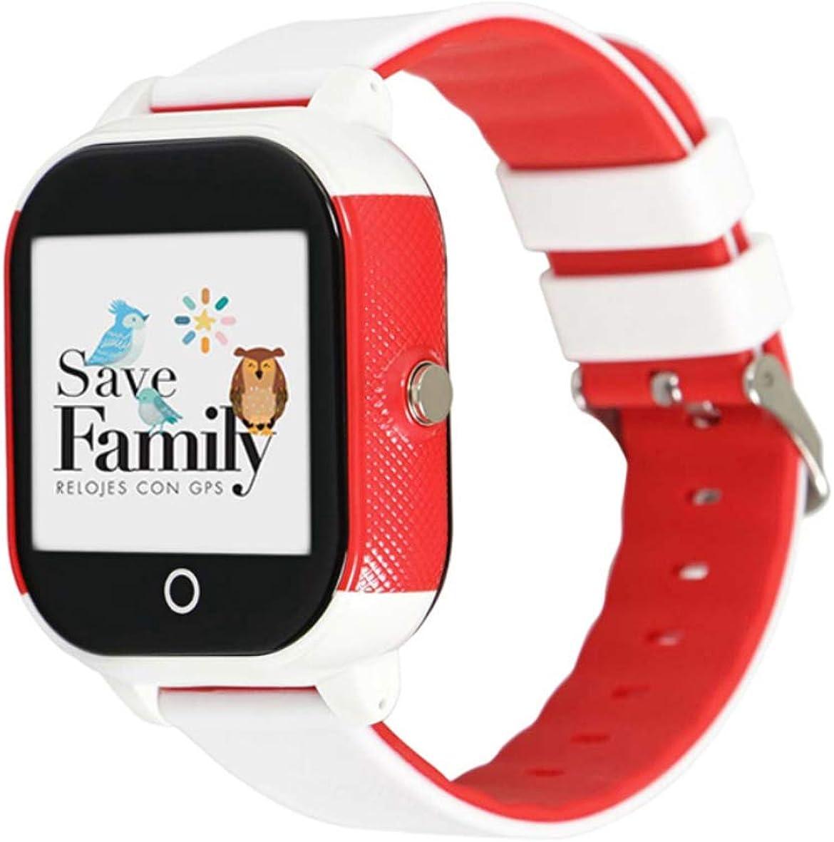 Reloj con GPS para niños Save Family Modelo Junior Acuático. Smartwatch con botón SOS, Permite Llamadas y Mensajes. Resistente al Agua Ip67. App Propia SaveFamily