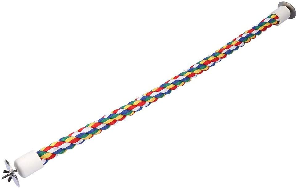 Garosa Pájaro Cuerda Bungee Juguetes Colorido Flexible Paso Loro Escalera Puente Columpio Cuerda De Algodón Loro Soporte Perchas Jaula Accesorios