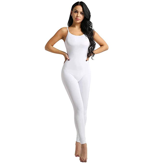 Freebily Leotardo para Danza Yoga Mujeres Jumpsuit Monos Elástico de Espaquetis Deportivo Bodysuit Maillots Una Pieza Sueva