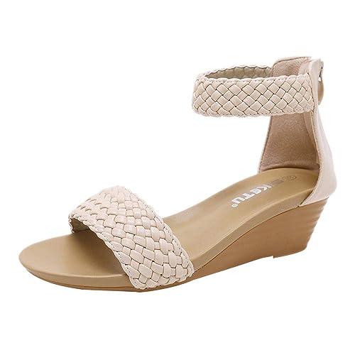 Mujeres De Mujer Uqvsmgzp Para Dedo Verano Sandalias Cuña Zapatos OuiPXZk