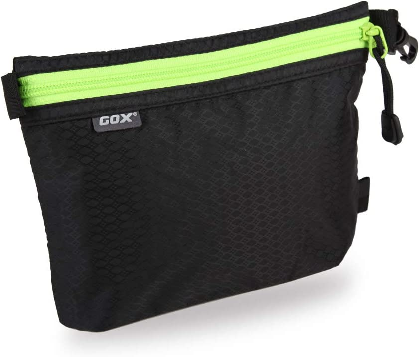 GOX Ultra Light Carry On Zipper Pouch Toiletry Bag Packing Sack Makeup Bag Digital bag (Black)