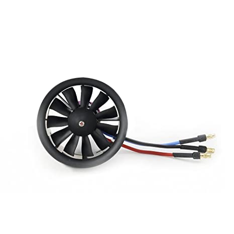 Ducted Fan 50mm 11 Blades RC Brushless Motor 4900KV/3S for RC Airplane  (4900kv/3s Motor Ducted Fan)