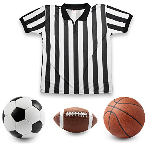 Crown-Sporting-Goods-Mens-Official-Striped-RefereeUmpire-Jersey
