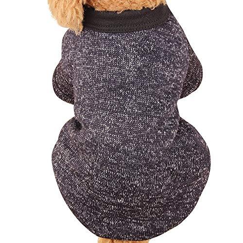 RSHSJCZZY Pet Dog Winter Knitwear Sweater Puppy Keep Warm Sweater Fleece Coats Soft Customes Puppy Clothing]()