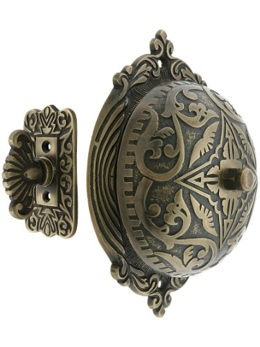 (House of Antique Hardware R-06SE-0900002 Eastlake Style Twist Door Bell in Antique Brass)