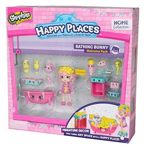 Happy places shopkins welcome pack bathing bunny playset for Happy playsets
