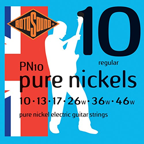 Pure Nickel Electric Strings - Rotosound PN10 Pure Nickel Electric Guitar Strings (10-46)
