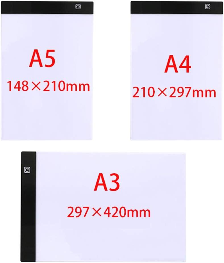Light Pad Diamond Painting,Led Light Box for Diamond Art A3//A4//A5 Ultra-Thin Portable Led Light Box Tracer.