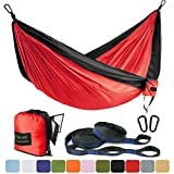 FARLAND Outdoor Camping Hammock - Portable Anti-fade Nylon...