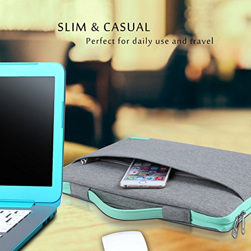 "ProCase 13-13.5 Inch Sleeve Case Cover for MacBook Pro 2019 2018 2017 2016/Surface Laptop 2017/Book 3 13.5"" 15"", Laptop Slim Bag for 13"" 13.3"" Lenovo Dell Toshiba HP Acer Chromebook -Light Gray"