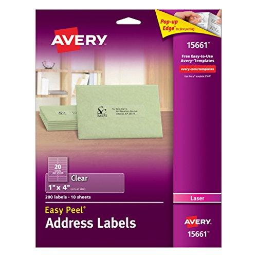 20 Avery Laser Label - 1