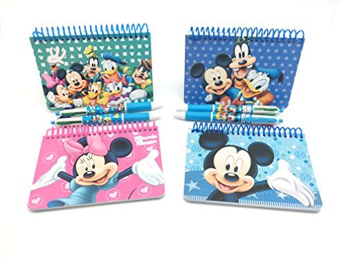 Mickey Autograph (Official Disney Autograph Books 4-Pack Mickey, Minnie, Mickey & Friends, Clubhouse Friends with 4- Multi-Color Pens)