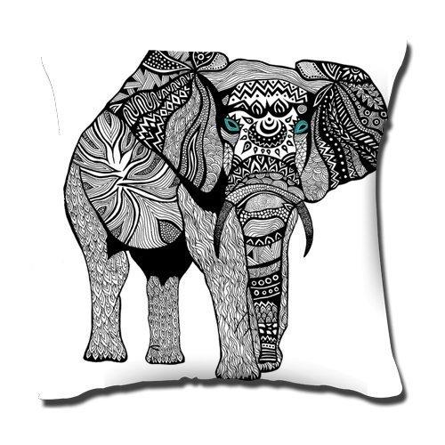 Elefante Colorido Fondo Sagittariusoo Impresionantes Fundas de Almohada Cubiertas del Amortiguador 45,72 cm x 45,72 cm, 50%...