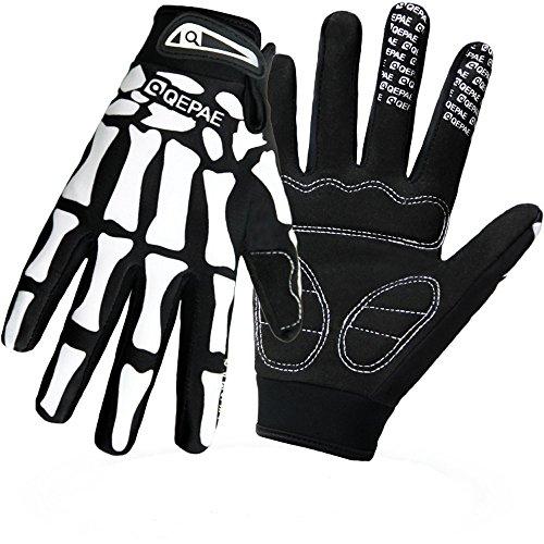 QEPAE Breathable Auto Racing Gloves Anti-Slip Full Finger Gl