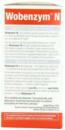 Wobenzym N Enteric Coated Tabs (1600 Tablets) by Marlyn Naturally (Image #6)