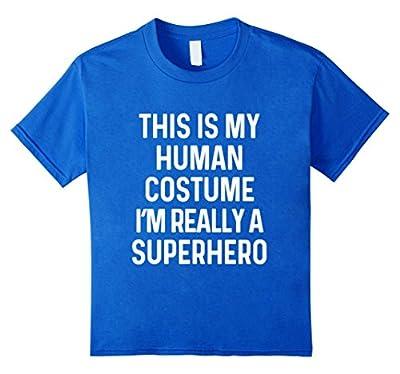 Funny Superhero Costume Shirt Halloween Kids Adult Men Women