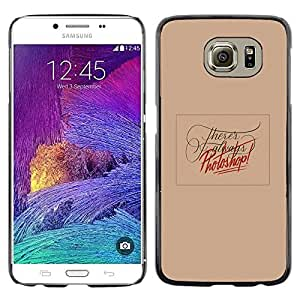 LECELL--Funda protectora / Cubierta / Piel For Samsung Galaxy S6 SM-G920 -- Photo Editing Peach Funny Text Red --