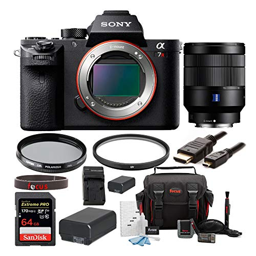 Sony Alpha a7RII Mirrorless Digital Camera (Body Only) with Sony Vario-Tessar T FE 24-70mm f/4 ZA OSS Lens and Accessory Bundle