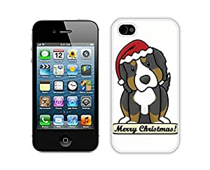 Personalized Christmas Dog White iPhone 4 4S Case 17