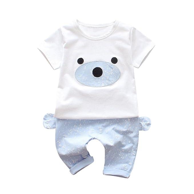 K-youth® Conjuntos Bebé Niño, 2018 Verano Ropa Recién Nacidos Ropa Bebe Niño Mangas Cortas Camiseta Bear T-Shirt Tops y Pantalones Cortos Conjunto de ...