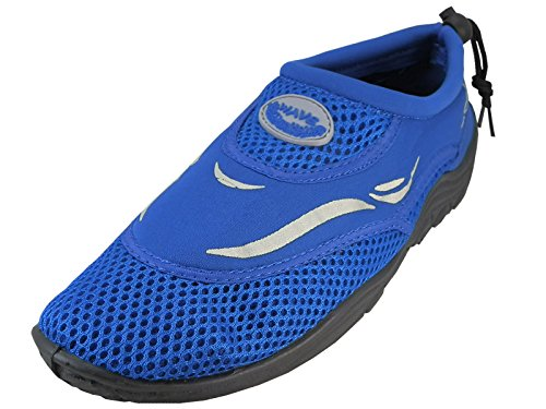 Cambridge Selezionare Mens Scarpe Chiuse Slip-on Quick Dry Coulisse Scarpe Blu Royal Blue