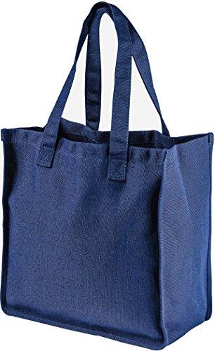 - ZUZIFY Hemp Market Day Tote Bag. NF1093 OS Navy