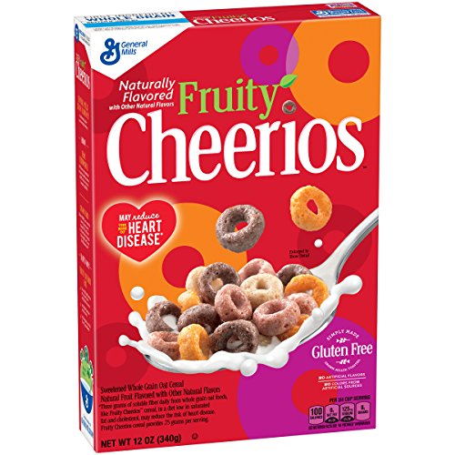 Fruity Cheerios Gluten Free Breakfast Cereal, 12 oz (Soluble Cereal Fiber)