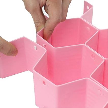 8 pcs DIY rejilla cajón divisor Bee estilo separador de plástico organizador del cajón de almacenamiento