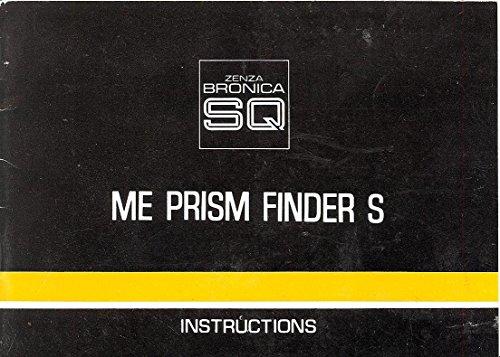 Bronica SQ ME Prism Finder S Original Instruction Manual (Bronica Prism Finder)