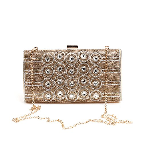 américaine et sac européenne Gold d'embrayage diamant main chaîne de Shimmer main à à paquet paillettes Nouvelle sac de de de de XqEtxw
